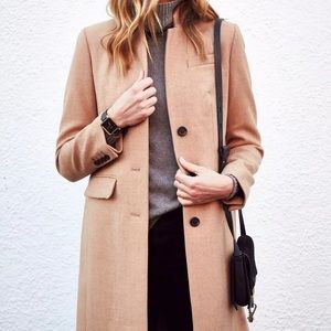 J. Crew Regent Camel Tan Wool Top Coat